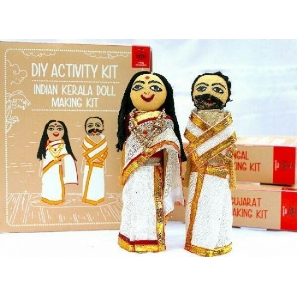 DIY Kerela Doll Making Kit With Traditional Costume