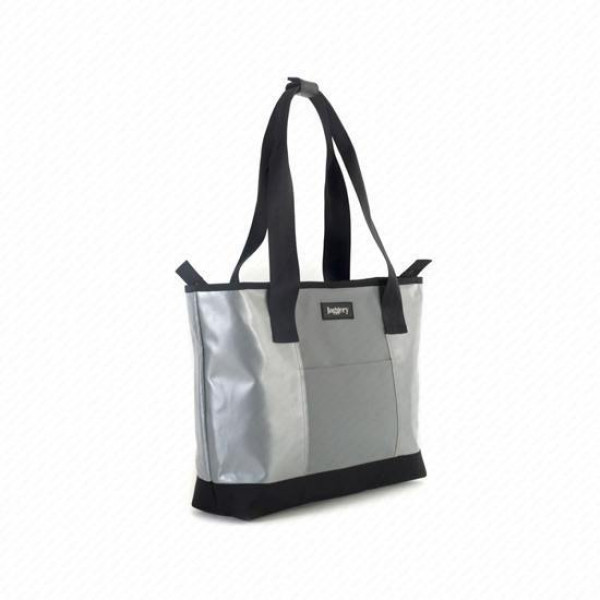 Festival Tote Bag in Silver & Grey