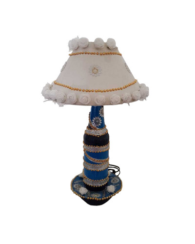 SHADES OF BLUE AND WHITE LED LAMP