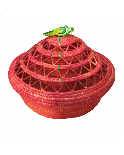 Crafted  Grass Fruit Basket