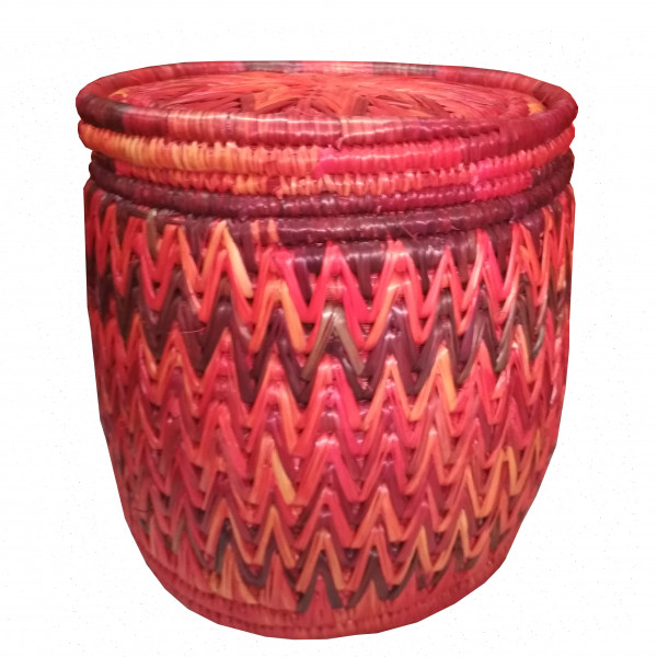 Crafted Grass Round Basket Box