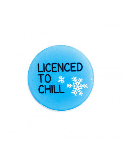 Ahaa Stuff licensed to chill badge