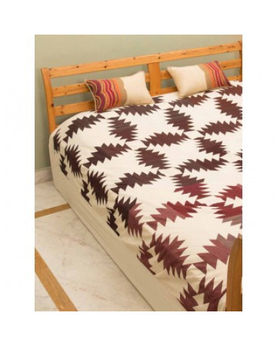 Blue Maddar Double Bed Sheet
