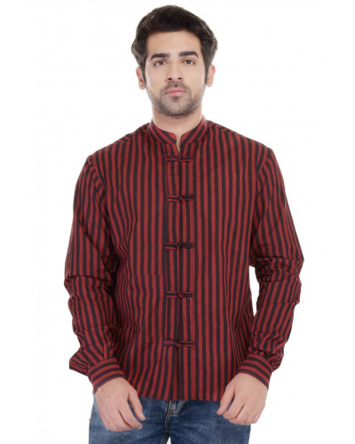 Gulaal Men's Summer Cool stripes Shirt