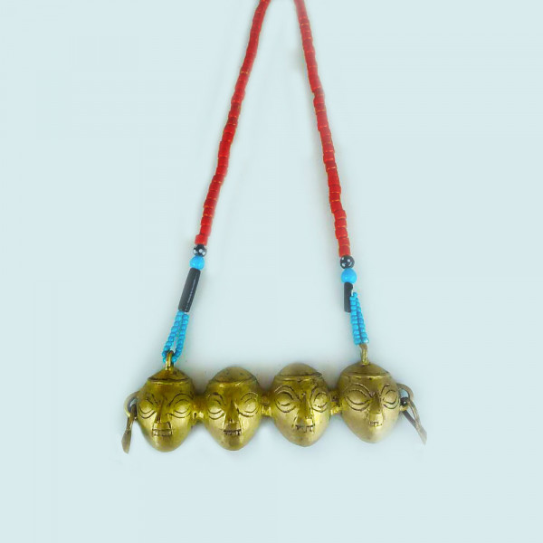 Brass and Bead traditional necklace