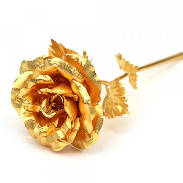 Natural Gold Plated Rose