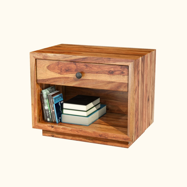 Solid Wood Nightstand End Table