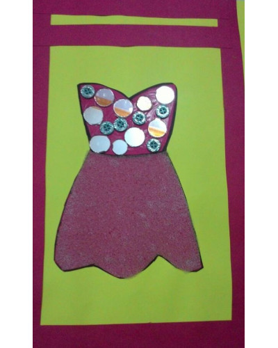 Foam frock craft set of 3