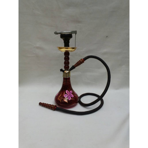Hand Painted Red Hookah