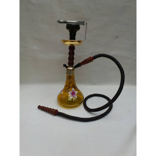 Hand Painted Yellow Hookah