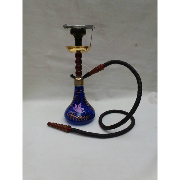Hand Painted Blue Hookah