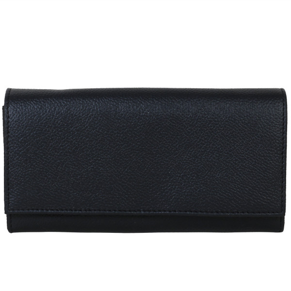Black color PU leather wallet