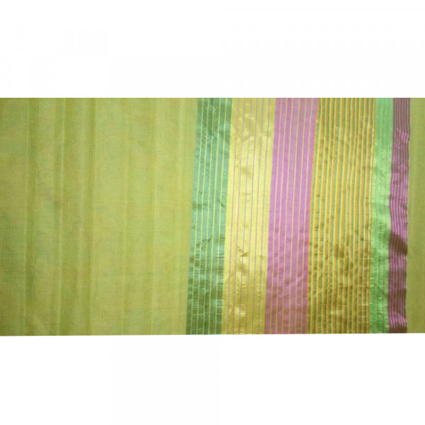 Yellow Handloom saree including blouse