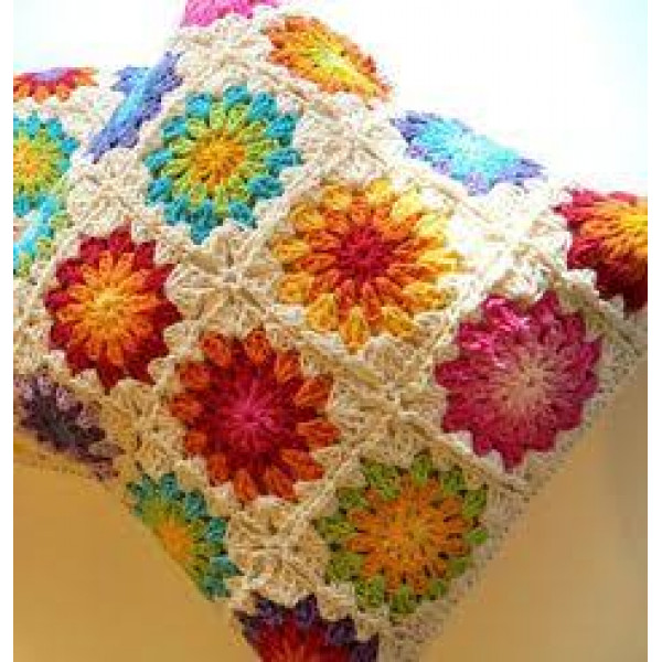 Floral Crochet Cushion- set of 2