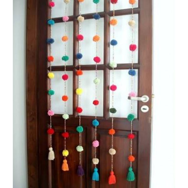 Pom Crochet Curtain