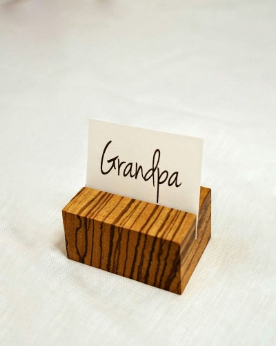Cuboid Place Card Holder