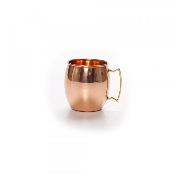 Copper Mule mug barrel with brass handle